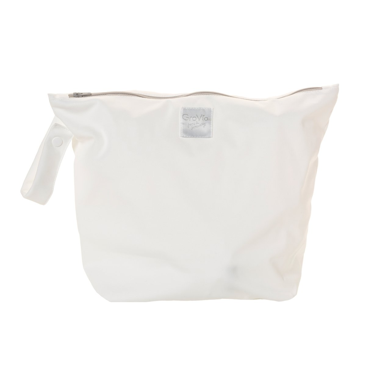 GroVia zipped wet bag - snow white