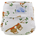 happy heinys one for all one size cloth diaper - owl