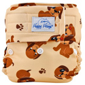happy heinys one for all one size cloth diaper - puppy