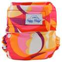 happy heinys one for all one size cloth diaper - retro swirl