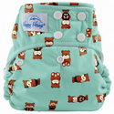 happy heinys one for all one size cloth diaper - peace bear