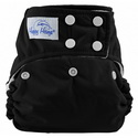 happy heinys one for all one size cloth diaper - black