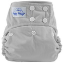 happy heinys one for all one size cloth diaper - grey