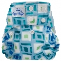 happy heinys one for all one size cloth diaper - Blue Squares