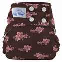 happy heinys one for all one size cloth diaper - pink hibiscus