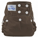 happy heinys one for all one size cloth diaper - mocca
