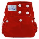happy heinys one for all one size cloth diaper - red