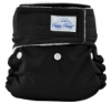 happy heinys mini one size cloth diaper - black