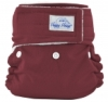happy heinys mini one size cloth diaper - burgundy