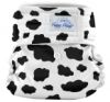 happy heinys mini one size cloth diaper - cow