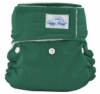 happy heinys mini one size cloth diaper - forest green