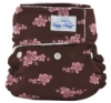 happy heinys mini one size cloth diaper - pink hibiscus