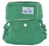 happy heinys mini one size cloth diaper - kelly green