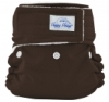 happy heinys mini one size cloth diaper - mocha