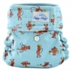 happy heinys mini one size cloth diaper - monkeys