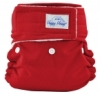 happy heinys mini one size cloth diaper - red