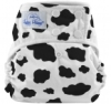happy heinys one size cloth diaper - cow