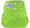 happy heinys one size cloth diaper - lime green