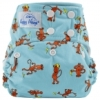 happy heinys one size cloth diaper - monkeys