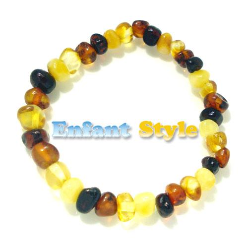 healing amber bracelet or anklet stretch - multi
