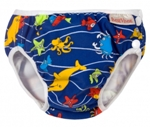 imse vimse swim diaper - blue sea animal