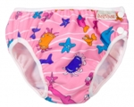 imse vimse swim diaper - pink sea animal