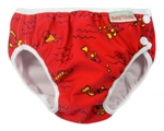 imse vimse swim diaper - red fish