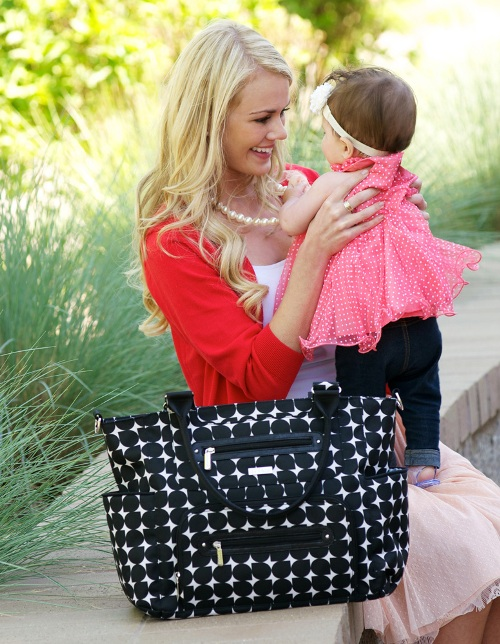 jj cole caprice diaper bag - shadow 4