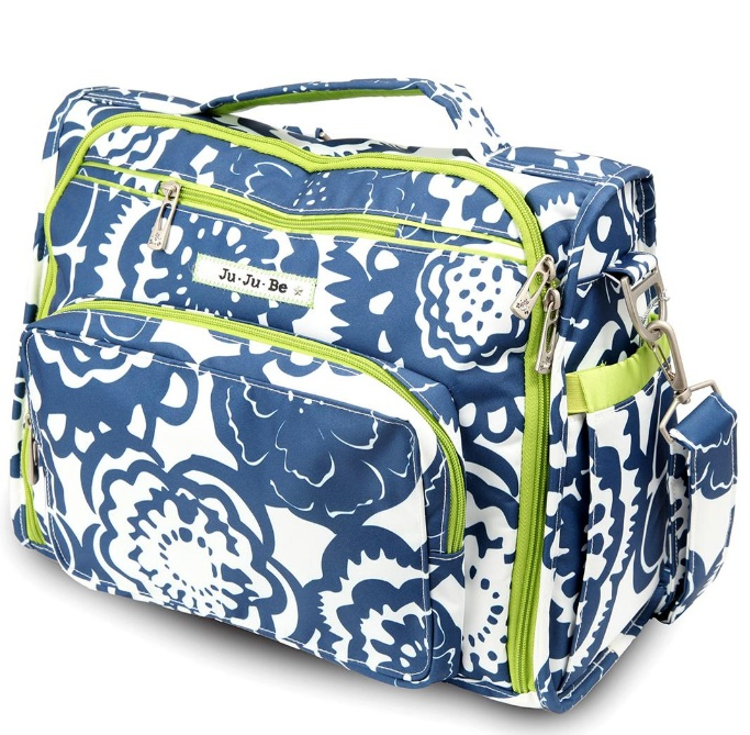 jujube diaper bag bff - cobalt blossoms