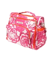 jujube diaper bag bff - fuchsia blossoms