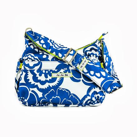 jujube diaper bag hobobe - cobalt blossoms