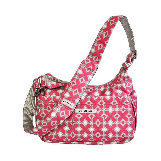 jujube diaper bag hobobe - pink pinwheels