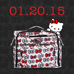 ju ju be diaper bag hello kitty peek a bow
