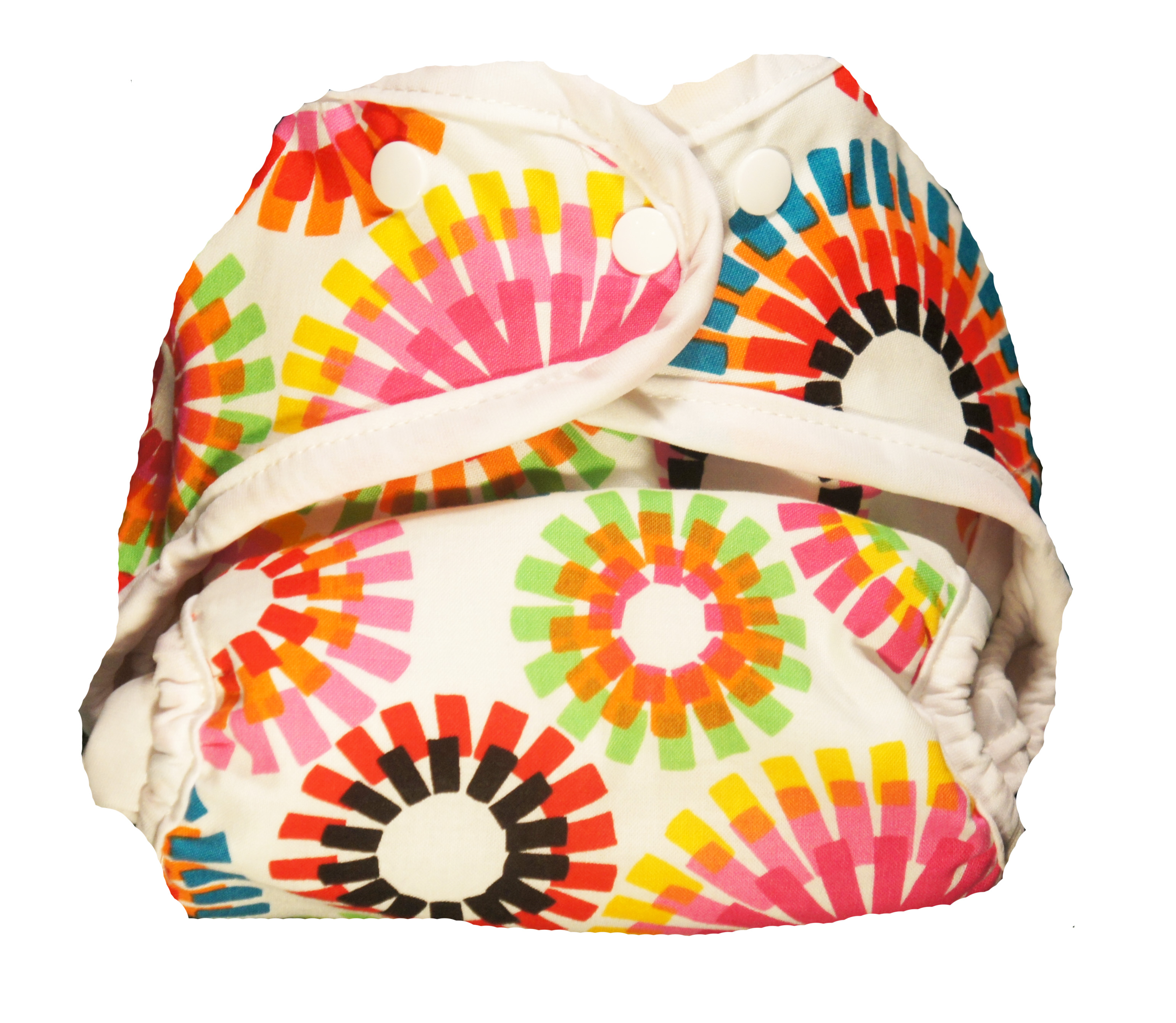 Kissaluvs Kutie One Size Diaper Cover - firecrackers