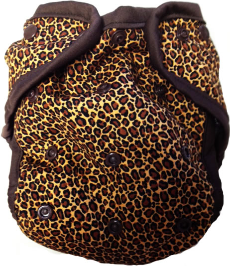 Kissaluvs Kutie One Size Diaper Cover - cheetah