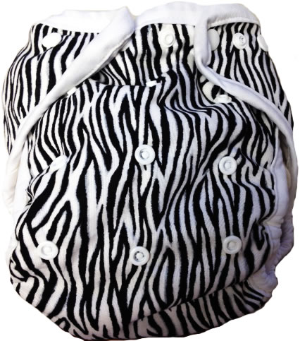 Kissaluvs Kutie One Size Diaper Cover - zebra
