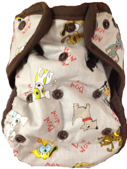Kissaluvs Kutie One Size Diaper Cover - puppy
