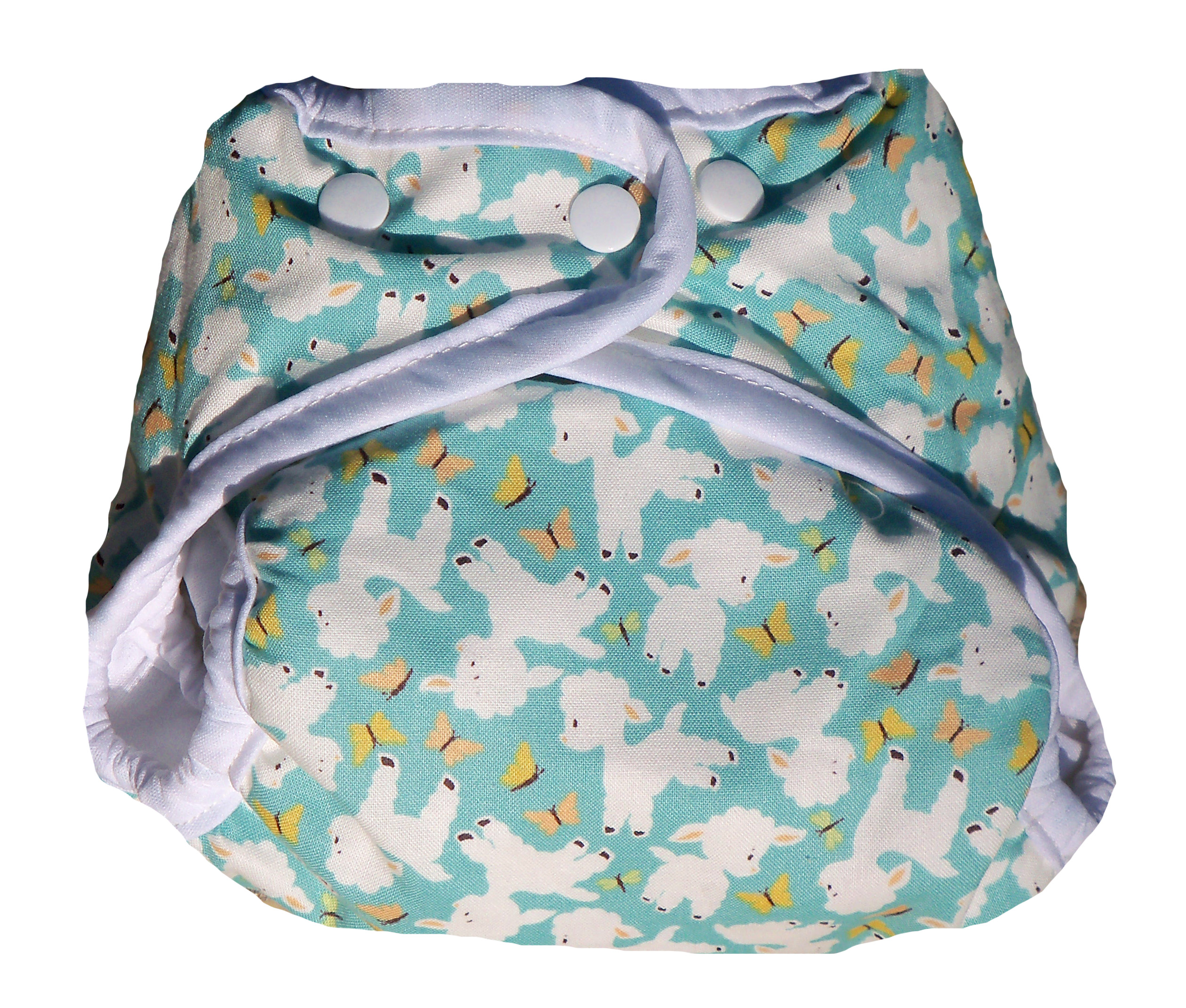 Kissaluvs Kutie One Size Diaper Cover - lambs