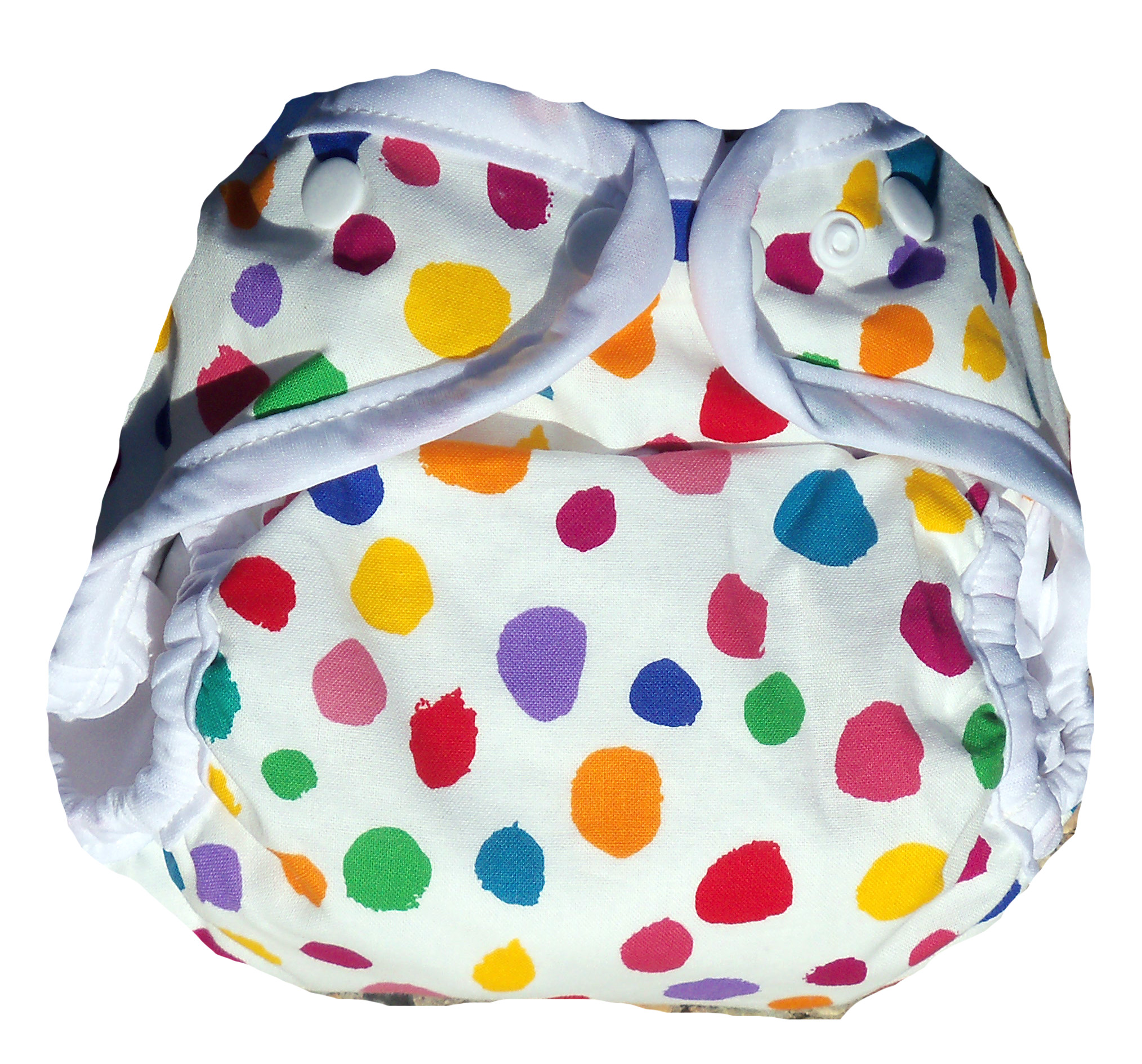 Kissaluvs Kutie One Size Diaper Cover - summer dots