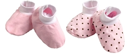 kushies baby booties - pink