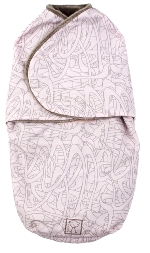 kushies swaddler blanket - pink