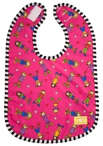 kushies cotton terry bib - pink