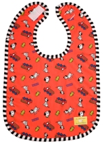 kushies newborn terry waterproof bib - red