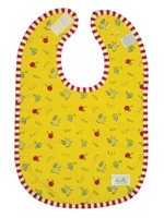 kushiescotton terry bib - yellow