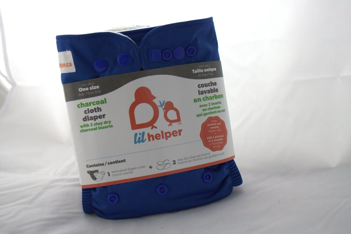 lil helper cloth diaper - Blue