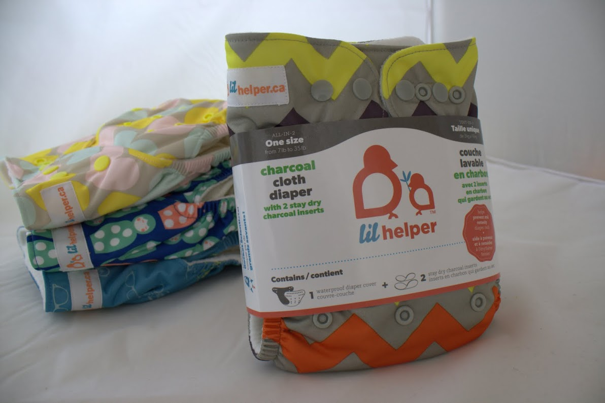 lil helper cloth diaper - Chevron