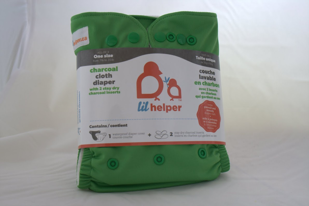 lil helper cloth diaper - Green