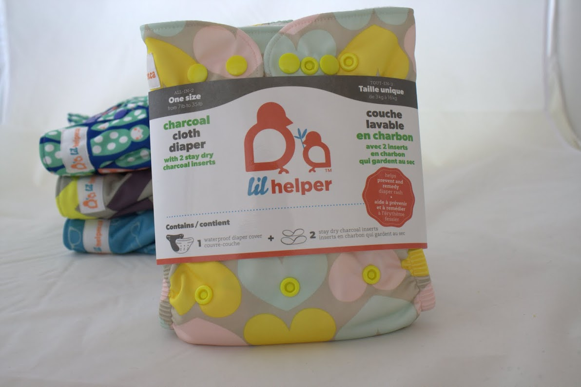lil helper cloth diaper - Hearts