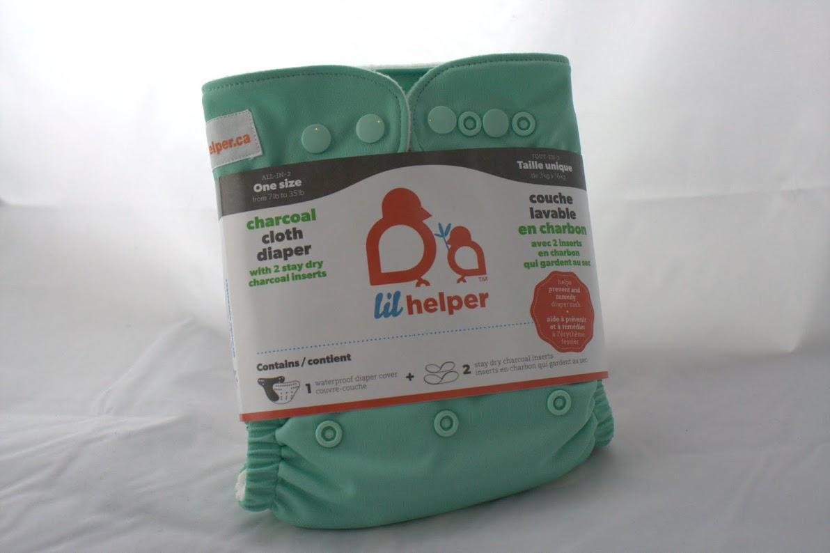 lil helper cloth diaper - Mint