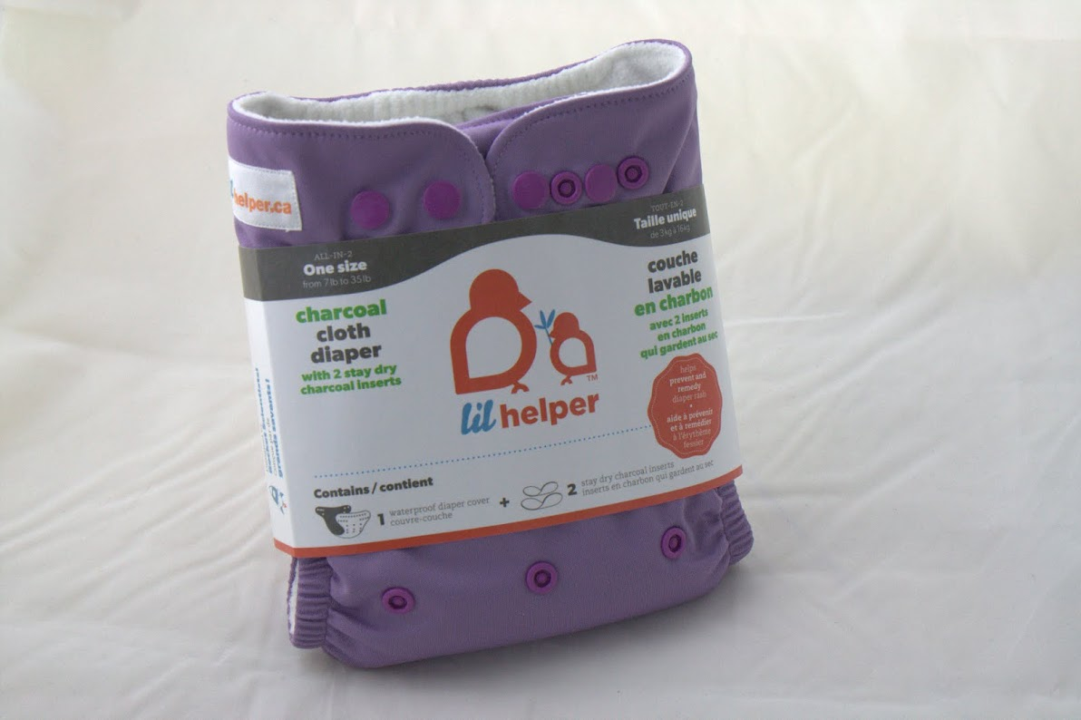 lil helper cloth diaper - Purple